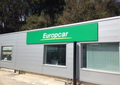 Enseigne caisson Europcar