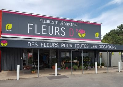ENSEIGNE DIBOND FLEURS D'O