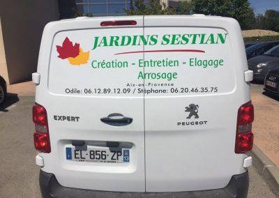 Marquage vehicule lettres decoupees